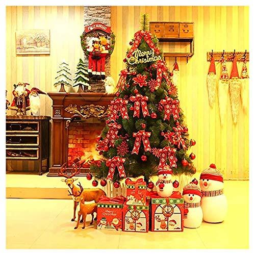 Inicio Equipo Decoraciones para árboles de Navidad Exterior Interior Premium Árbol de pino de Navidad artificial con bisagras Árbol de Navidad preiluminado con luces LED Adornos para decoración nav