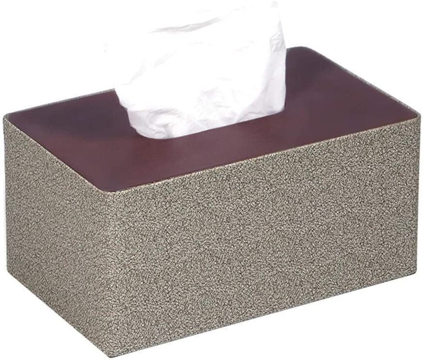 Minneapolis Mall Tissues box cover New life Rectangular Synthetic for Ring Napkin Leather