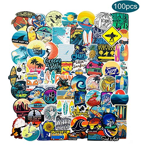 Outdoor Stickers 100-Pack,Gdaya Water Bottle Stickers Aesthetic Trendy Sticker Pack for Teens, Waterproof Vinyl Wilderness Nature Stickers Decal for Luggage Laptop,Computer,Phone,Travel, Extra Durable