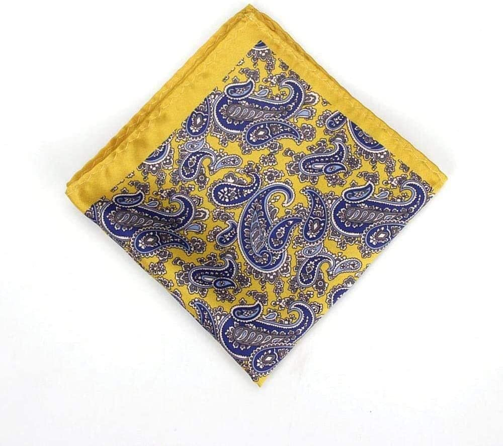 WYKDL Pocket Square Suit Suit Pocket Scarf Flower Pattern Printed Chest Scarf