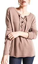 Rag Poets RW183539 Basil Lace Up Oversized Sweater in Peppercorn