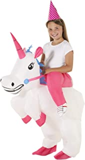 Kids Unicorn Ride On Inflatable Costume Blow Up Fancy Dress Outfits Boys & Girls