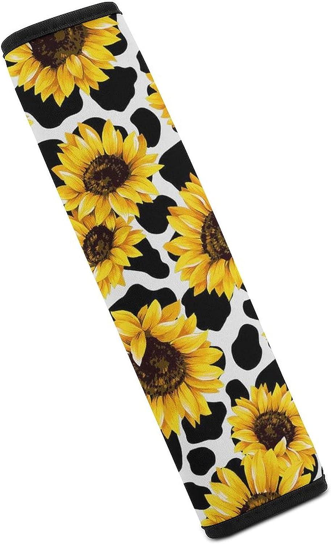 Price reduction ZIXKPEZMG Sunflower Cow Popular popular Car Seat Belt Cover Shoulder A Pad Soft