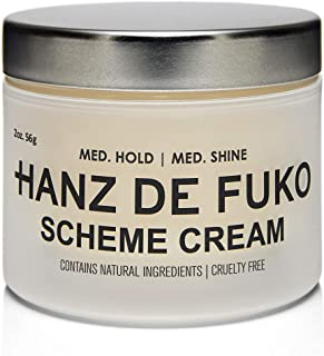 Hanz de Fuko Scheme- Premium Mens Hair Styling Cream with High Shine Finish (2oz)