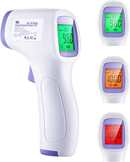 (US Stock) Contactless Thermometer for Adults, Techvilla Non-Touch Forehead  Thermometer with Buttons LCD Display