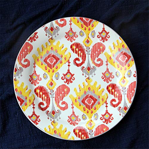 YUWANW Dog plaque country américain tir décoratif disque plat mural plat dessert occidental plat mis fritures maison - côté rose d'un petit disque de chien - B