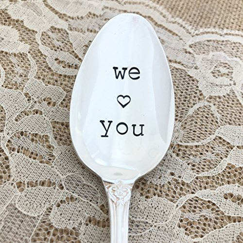 We love you: spoon gift hand stamped.Heritage
