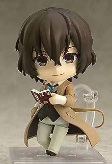 Kotee 10cm Anime Figur Bungou Stray Dogs Dazai Osamu Q Version Nendoroid Utbytbar Face PVC Anime tecknad spelkaraktär Mode...