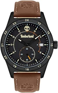 Timberland Boynton Men Analogue Watch With Black Dial And Dark Red Leather Strap - TBL15948JYB-02