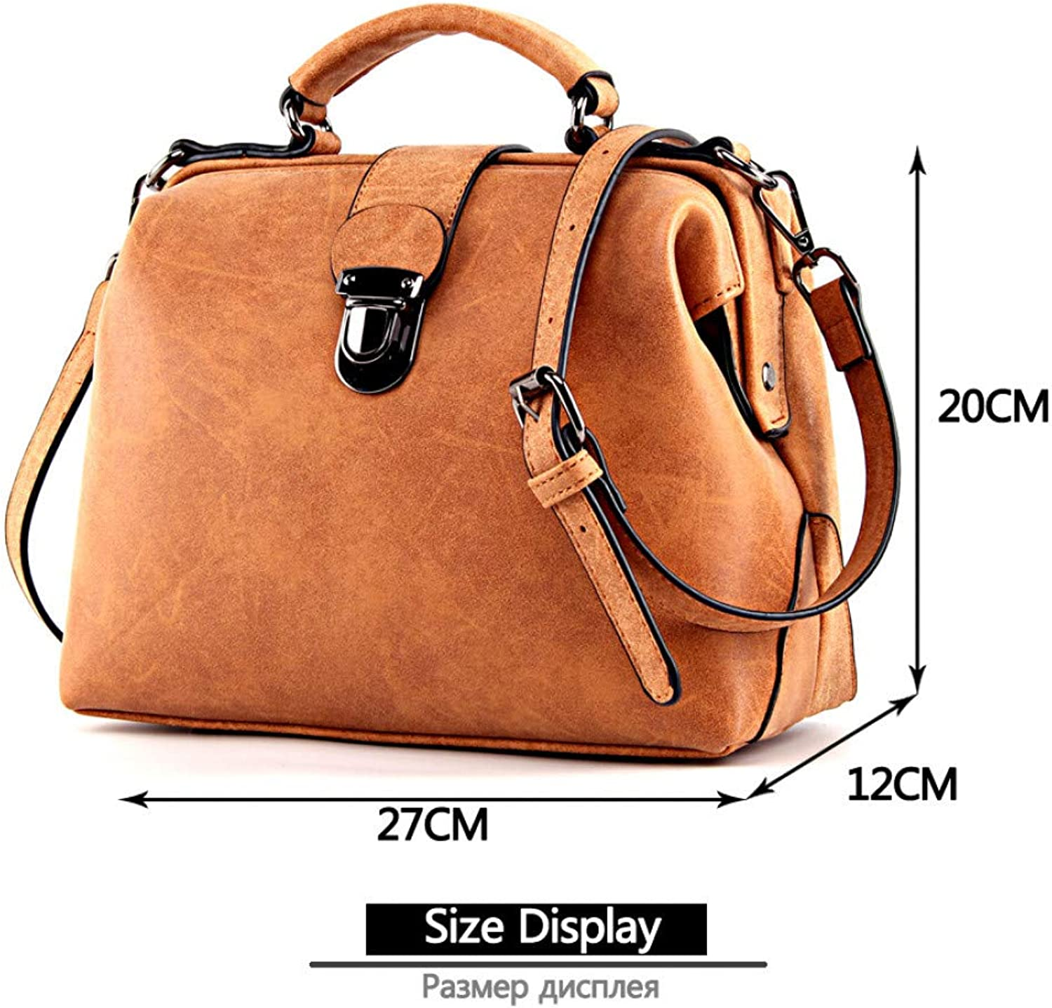 JQSM Handbags Women's Bag Shoulder Female Matte Leather Messenger Bag Women's Crossbody Ladies Hand Bags for Women