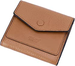 Itslife Women's Small Leather Wallet RFID Card Holder Compact Ladies Billfolds Flat Pocket Purse (Natural Light Brown)