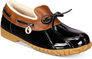 Womens Patty Round Toe Loafers, Black, Size 9.0
