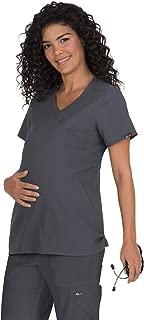 white maternity scrubs