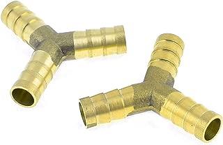 uxcell 三又ホース Y型ホース継手 メタル 10mm 燃料ガス コネクタ 2個