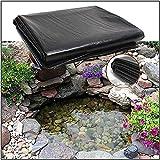 FENGSR Teichfolie Anti-Leckage-Biogasfermenter,HDPE-Wasserspeichermembran,Verwendet In Gärten Schwimmbadmembranen Wasserschutz,Verschönerung Der Umwelt (Color : Black, Size : 4x9m)
