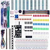 ELEGOO Upgraded Electronics Fun Kit w/Power Supply Module, Jumper Wire, Precision Potentiometer, 830 tie-Points Breadboard Compatible with Arduino, Raspberry Pi, STM32
