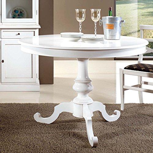 Bagno Italia Tavolo Rotondo Bianco Opaco Diametro 100 o 120 cm Disponibile Anche con sedie I