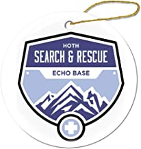 VinMea Hoth Search and Rescue Round Decorative Hanging Ornament for Christmas Tree, Porcelain, 3-Inch