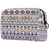 Bolsa de maquillaje gitana tribal étnica geométrica portátil bolsa de cosméticos impresa, bolsa de cosméticos para mujeres, bolsa de cosméticos de viaje bolsa de maquillaje bolsa de aseo