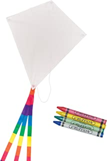 In the Breeze Coloring Diamond 20 Inch Kite - 50 Piece Party Pack - Single Line Kite - Includes Crayons, Kite Line and Bag - Creative Fun for Kids and Adults