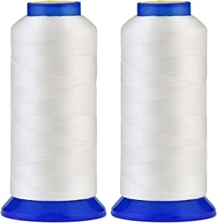 Selric [3000 Yards / 22 Colors Available] Pack of 2 UV Resistant High Strength Polyester Thread #69 T70 Size 210D/3 for Up...