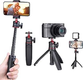 Ulanzi MT-08 三脚 自撮り棒 三段伸縮 ビデオライトの卓上三脚 ZV-1三脚 ビデオVLOG三脚 RX100 M1-M6 A6400 A6500 A6600 Canon G7X Mark IIIなどのカメラに対応