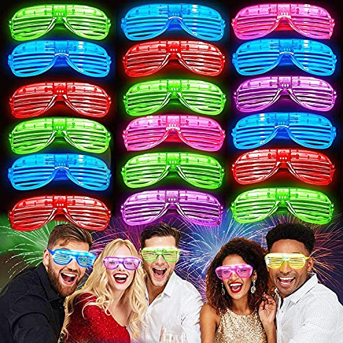 iGeeKid 30 Pack LED Glasses,Halloween Party Glasses Glow in The Dark Light Up Glasses Party Supplies...