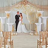 Cardboard Marble-Look Fluted Pillars 4.5' Tall - Large Party Decor - Wedding, Prom, Formal Dances - 3D Stand Ups - 2 Pieces