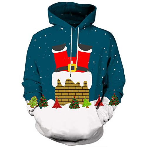 CHILDRENS KEEP CALM AND WAIT FOR SANTA HOODIE BOYS GIRLS CHRISTMAS HOODY