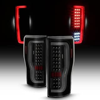 For 2017-2019 Ford F250/F350 SuperDuty Full LED Daytime Running Lamp Bar Tail Lights Black Smoked Set