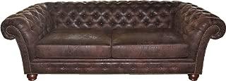 Casa-Padrino Limited Edition Designer Chesterfield 3 Seater Sofa Brown B 226 cm - Club Furniture