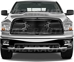 Razer Auto Gloss Black Big Horn Complete Grille Factory Replacement Grille w/Shell for 2009-2012 Dodge RAM 1500