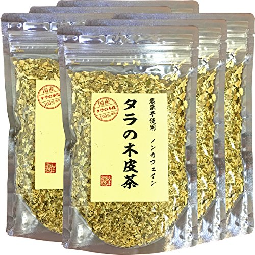 【国産 無農薬 100%】タラの木皮茶 100g×6袋セット 南九州産 ノンカフェイン