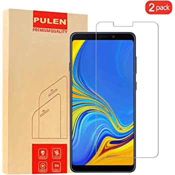 [2-Pack] PULEN Screen Protector Compatible with Samsung Galaxy A9 2018,HD Anti-Scratch Bubble Free Ultra Clear 9H Hardness Tempered Glass, Lifetime Replacement