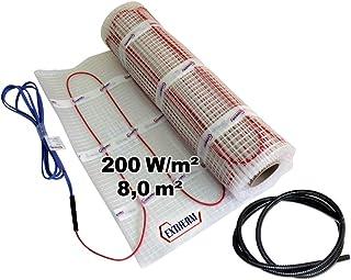 EXTHERM - Alfombra de Radiador de Doble Cable, Area de 8m²  - Potencia de Calefacción de Suelo de 200 W/m² - Confort Térmi...