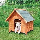 Trixie 39530 natura Hundehütte Cottage mit Satteldach, S–M: 71 × 77 × 76 cm, natur