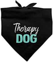 Graphics and More Therapy Dog Dog Pet Bandana - Black