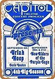 Froy 1974 Uriah Heep In New Jersey Wand Blechschild Retro