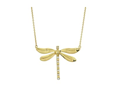 Vince Camuto Dragonfly Pendant Necklace (Gold/Crystal) Necklace