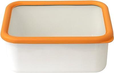 富士ホーロー 深型角容器 L オレンジ OG-DL
