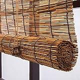 YUANJJ Riet roltinten - verduisterende bamboe jaloezieën - raamluiken, vintage Chinese stijl, handgeweven, milieuvriendelijk, aanpasbare bamboe gordijnen