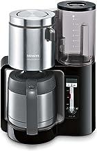 Siemens TC86503 Kaffeemaschine 1100 Watt, optimales Kaffeearoma, Timer-Funktion, abnehmbarer Wassertank, automatische Abschaltung schwarz