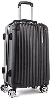 Wanderlite 28'' Hard Suitcase Large Roller Luggage Case, Black