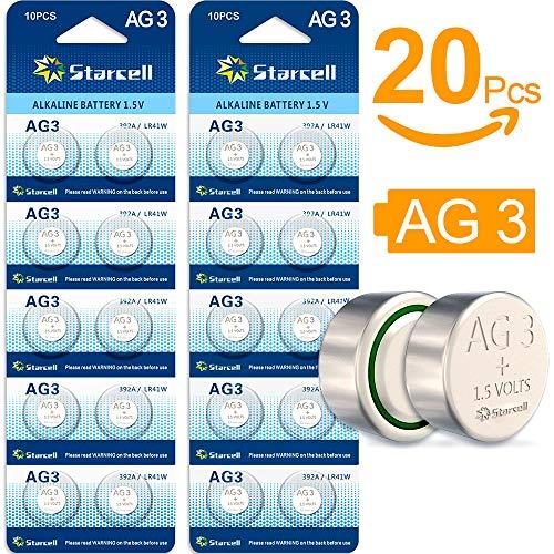 Act 20 Plus Alkaline Knopfzelle (AG3, LR41, LR736, 392, 20-Pack, Blister)