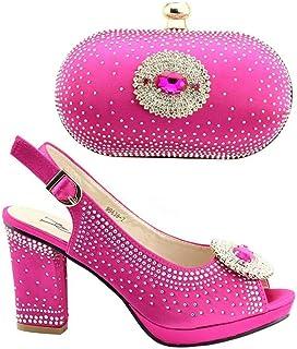ef5914a3d6d3 Ensemble de Chaussures Italiennes Noires avec Sacs Assortis décorés avec  Strass pour Femme Chaussures de Mariage