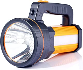 Antorcha para exteriores, Super brillante IP65 portátil reflector LED 7000 lúmenes 9000 mAh linternas recargables, reflector impermeable, antorcha, luz con 5 modelos de luz, banco de energía
