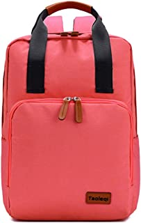 GYYlucky New Canvas Women's Backpack Colorful Solid Color Fashion Sports Student Backpack (Color : Pink)