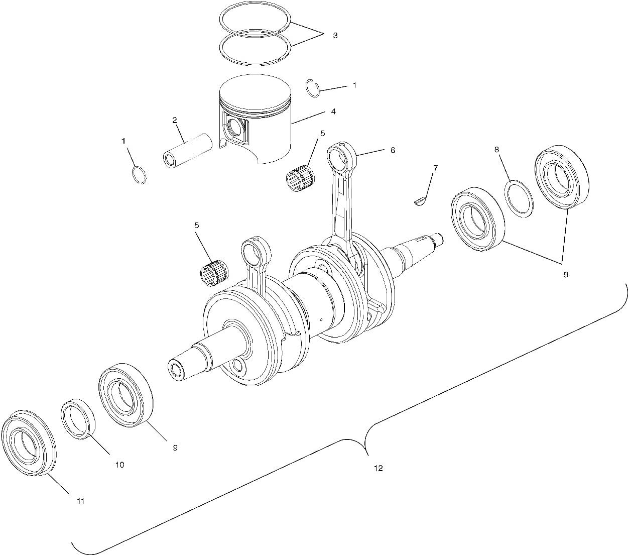 Polaris Piston Virginia Sales results No. 1 Beach Mall Rings Kit 74.5 CKS Part SNO Genuine OEM 220094