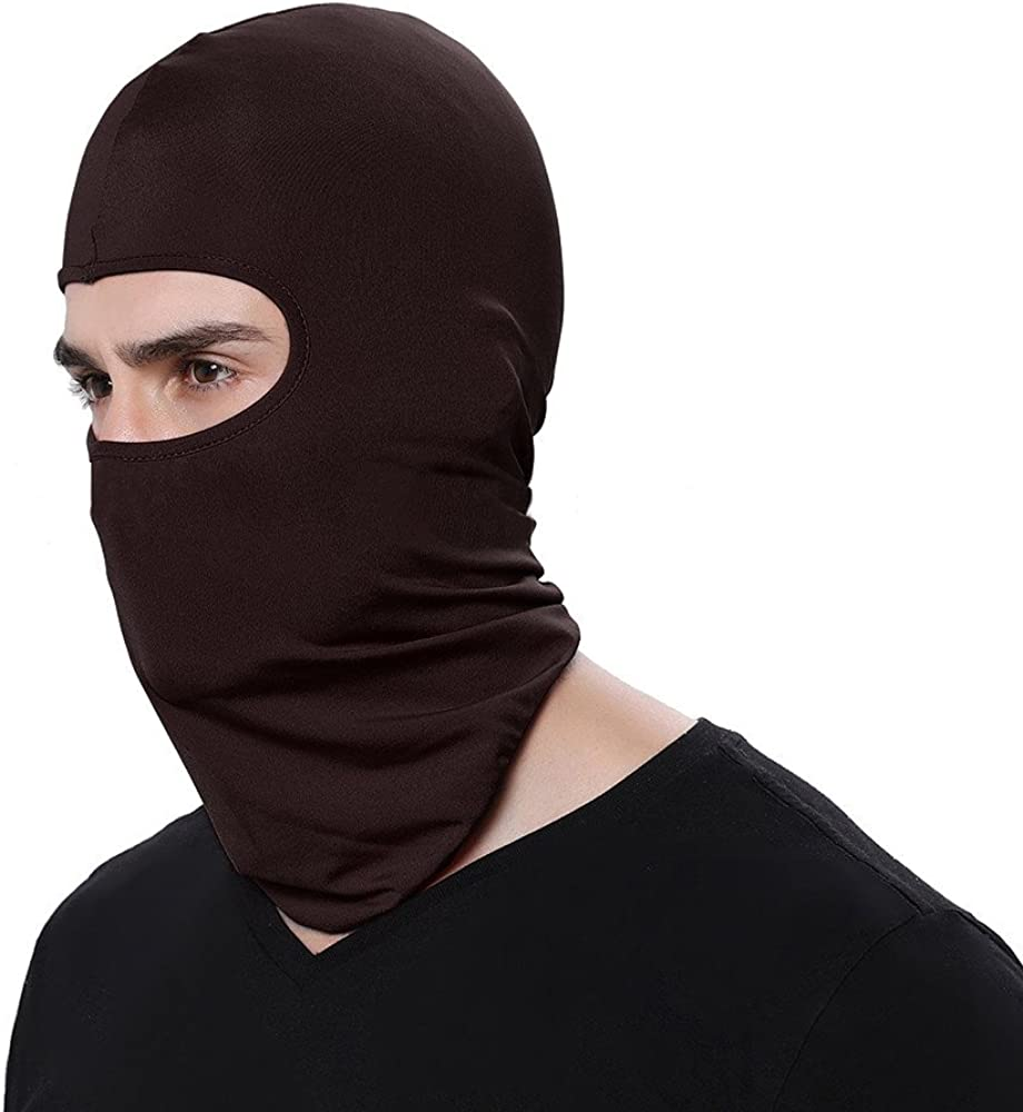 Changeshopping 1PC Unisex Washable Reusable Face Scarf Mask Fashion Protective Face Mask Protection Outdoors Sport Brown