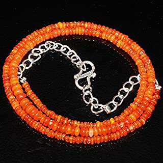 """Jewel Beads Natural Beautiful jewellery Natural Ethiopian Welo Fire Opal Orange Beads Size :- 2 To 4 MM Length :- 15""""Necklace ##359Code:- JBB-9037"""